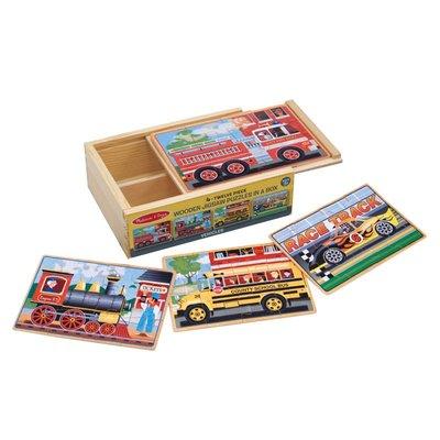【晴晴百寶盒】美國進口盒裝拼圖-交通 Melissa&Doug扮演角系列手眼協調生日禮物家家酒 益智遊戲玩具W646