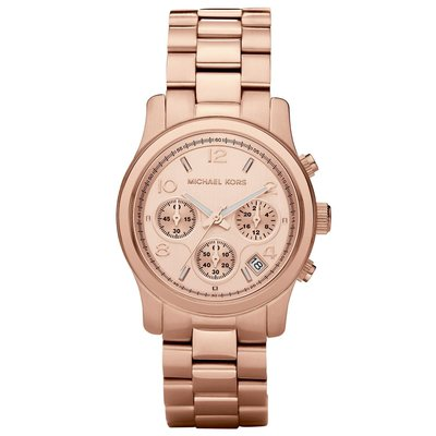 MICHAEL KORS MK5128 手錶 38mm 鋼帶 玫瑰金 三眼 計時 女錶
