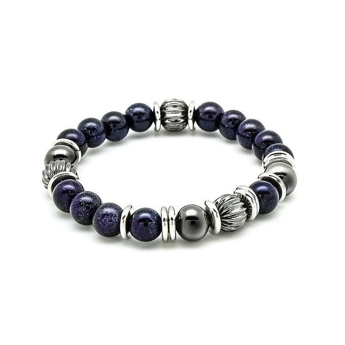藤原本鋪 SOLO Natural Beaded Bracelet 簡約天然串珠手環 藍砂石