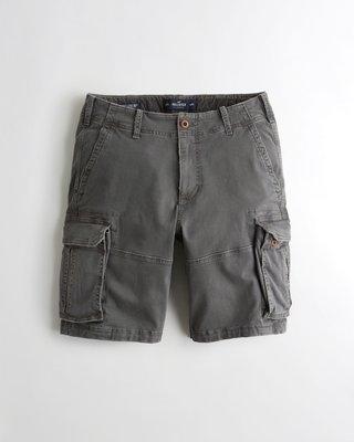 Hollister Cargo Shorts 海鷗 灰色 工作短褲(30) A&F