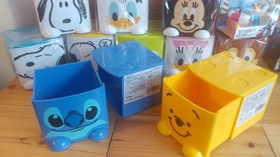 柯先生 館( 直送史努比.迪士尼三眼怪.小熊維尼.唐老鴨.米奇.米妮積木疊疊樂 收納盒小抽屜,飾品盒,辦公桌抽屜盒