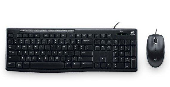 【鳥鵬電腦】Logitech 羅技 MK200 Media Combo 滑鼠鍵盤組 多媒體鍵 有線 USB 防濺灑
