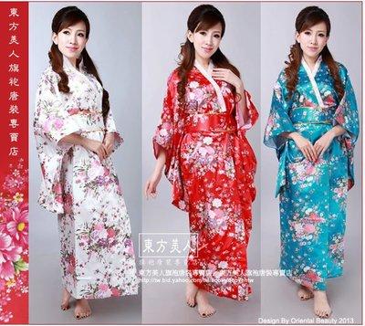 東方美人旗袍唐裝專賣店 ☆°((超低價690元))°☆中國風百花盛開印花布和服☆共三色