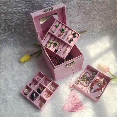 首飾盒 復古歐式精致小號飾品盒公主簡約收納盒手飾盒珠寶盒化妝盒   全館免運