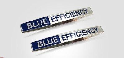 Mercedes-Benz 賓士改裝藍效動力BLUE EFFICIENCY 藍色效能車標 側標 車貼 車標貼 車身貼
