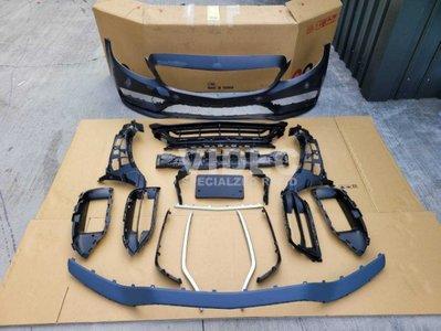大台北汽車精品 BENZ W205 C300 C250 C180 後期 AMG C63 樣式 前保桿 素材 前後期皆可裝