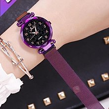 『免運費!可開發票』 年新款韓版ins風時尚簡約氣質女錶抖音同款磁鐵星空學生手錶