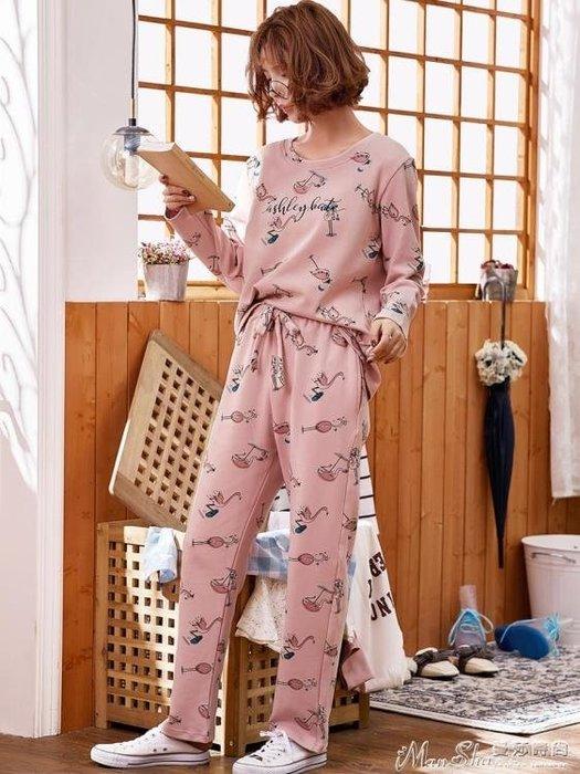 熱銷秋季睡衣睡衣女春秋季薄款純棉長袖套裝韓版甜美可愛可外穿