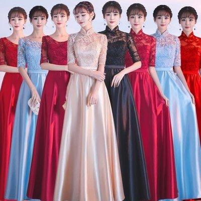 哆啦本鋪 伴娘禮服女合唱團演出服婚禮姐妹團畢業派對晚禮服伴娘服 D655