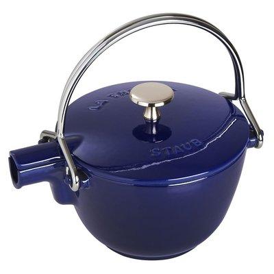 法國Staub 鑄鐵 水壺 茶壺 1.15 L  16.5CM 圓形 法國製 (寶藍色) 耶誕禮物 尾牙贈品