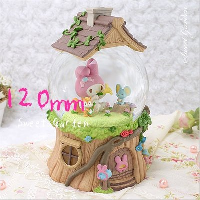 Sweet Garden, Melody 森林動物派對音樂水晶球(免運) 美樂蒂的音樂會 森林小木屋 送女朋友禮物