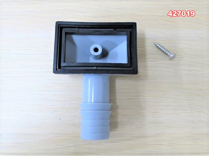 廚房不銹鋼水槽溢水口配件 長方形溢水孔接頭 加厚丁晴像膠墊片 水槽下水管配件 019
