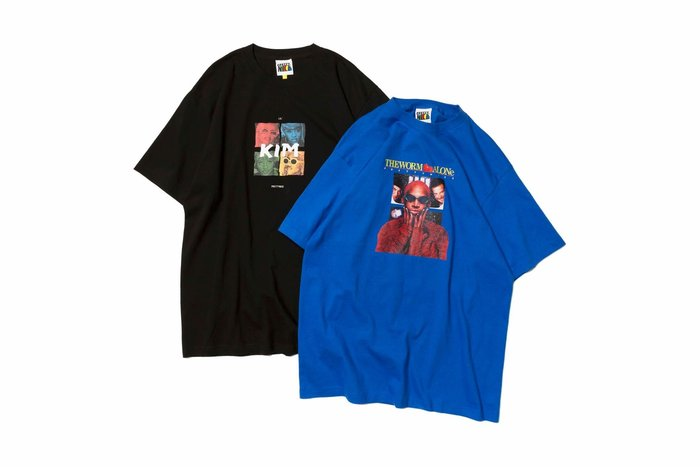 { POISON } PRETTYNICE LIL KIM & THE WORM ALONE TEE 90經典醜帥拼貼
