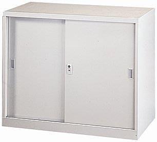 【傢俱城】鐵拉門二層式理想櫃.鐵櫃.置物櫃.文件櫃.資料櫃087-11