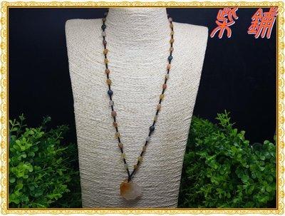 【柴鋪】特選 精品A級 天然阿拉善戈壁瑪瑙原石項鍊  彩珠短項鍊毛衣鏈