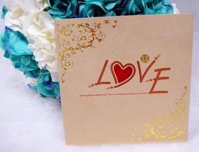結婚喜帖 婚卡 《編號:W-3432》結婚用品 婚禮用品【皇家結婚用品百貨】