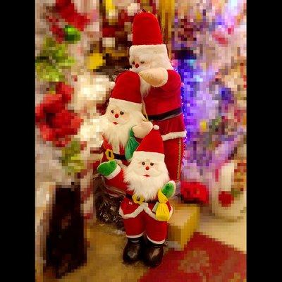 聖誕節聖誕老人老公公玩偶裝飾 聖誕老人140cm