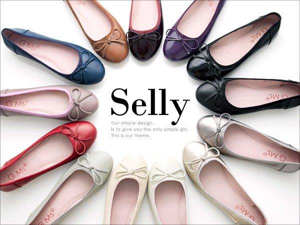 夢幻仙境-完美芭蕾-全真皮蝴蝶結豆豆鞋-霧面牛皮11色-Selly-沙粒-(SQ001)