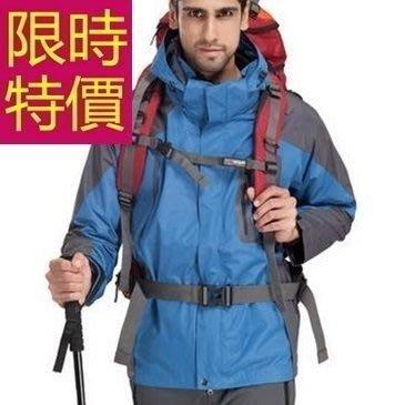登山外套-防風防水透氣保暖男滑雪夾克62y18[獨家進口][米蘭精品]