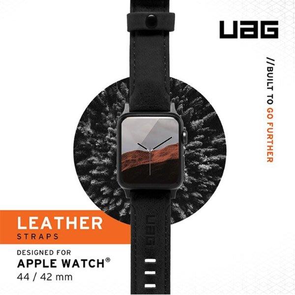 UAG Apple Watch 42/44mm 皮革錶帶