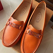 Tods's tods橘色豆豆鞋38