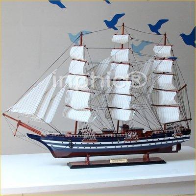 INPHIC-木製帆船模型 1米大氣義大利韋斯普奇號組裝船工藝 晉升帆船