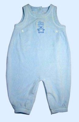 【二手惜福區】美國Little Impressions正品青色細條絨背心連身服連身衣包臀衣.3∼6M.可合併郵資