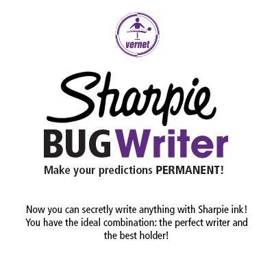 [魔術魂道具Shop] 美國原廠~ Sharpie BUG Writer ~ 油性筆頭拇指筆 ~ 心靈魔術超強武器 ~