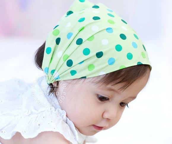 BHL014-韓劇童星愛用品牌POPKID 圓點寶寶頭巾/包頭帽/頭飾/兒童頭巾/春夏帽子【現貨】韓國製