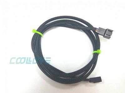小白的 工場~小3PIN 延長線~黑~編織網 長度100cm