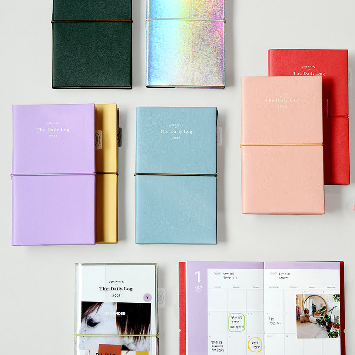 ❅PAVEE❅ 韓國gmz~週計畫 S號 2021限定 Daily Log Diary 皮革綁帶 萬用手帳 行事曆