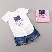 @菲菲小舖@外貿夏款可愛小辮子女童竹節棉兒童短袖T恤(現貨)BA0045