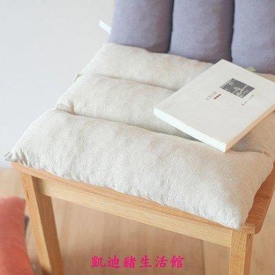 【凱迪豬生活館】慢回彈棉麻椅子靠墊夏季記憶棉護腰靠墊汽車沙發辦公椅墊h07KTZ-201050