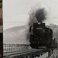 日本蒸氣老火車照片[裱框][攝影.古董.藝術.收藏.火車迷]五十二草堂