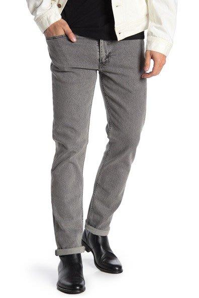 (嘻哈姐弟)Levi's 511 Slim Fit 灰色石洗 彈性舒適 低腰 丹寧褲 窄管褲 小直筒 牛仔褲