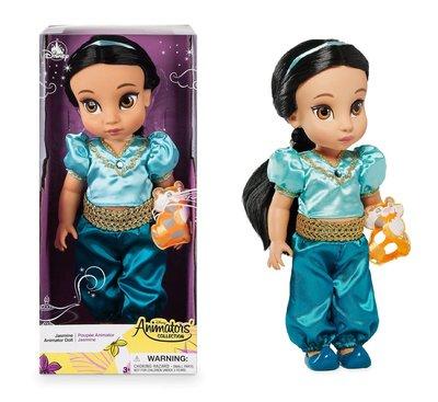 【美國大街】正品.美國迪士尼阿拉丁茉莉公主手繪Q版娃娃Q版茉莉公主 Jasmin 16吋 / 40cm