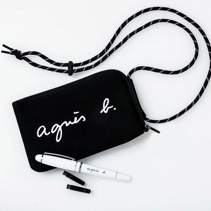 《瘋日雜》B271日本mook附贈 agnes b 肩背包護照包長夾+高級鋼筆原子筆. 豪華兩件組