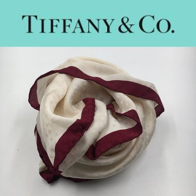 【皮老闆】990起標 二手真品 美國精品 Tiffany&CO. 絲巾 A465