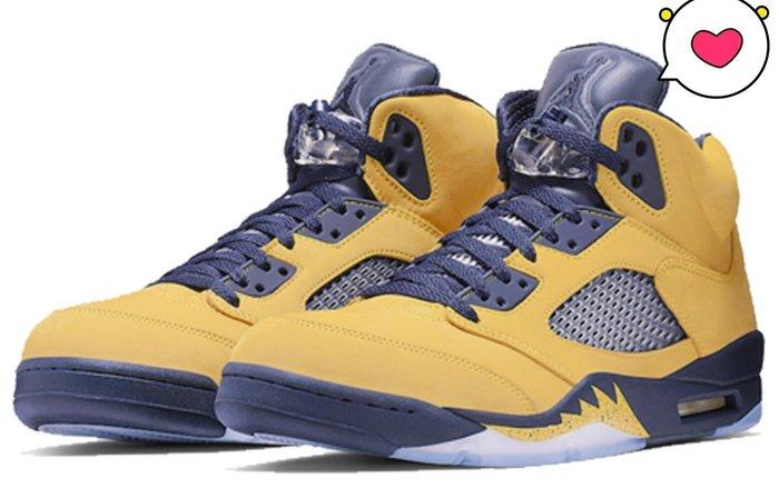 現貨- Air Jordan 5 Michigan AJ5密歇根黑黄東京限定篮球鞋 CQ9541-704