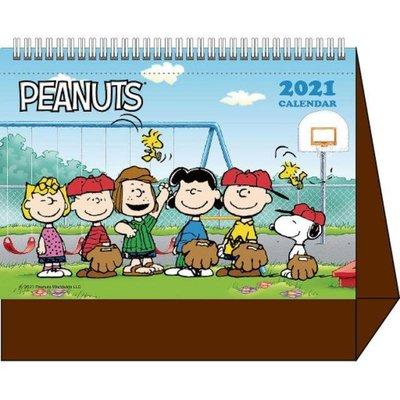 2021年 大型立體桌曆 卡通三角臺 記事月曆桌曆 拉拉熊/多啦A夢/米奇/史努比  送禮自用皆可