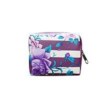 玫瑰花間條紋散紙包. 包*紫白色*(Rose Vertical Stripe Coin Purse, Bag*Purple, White*)