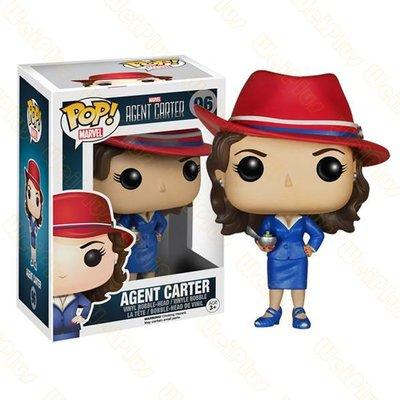 FUNKO POP 漫威 卡特 特工 Agent Carter 探員卡特 限定手辦擺件