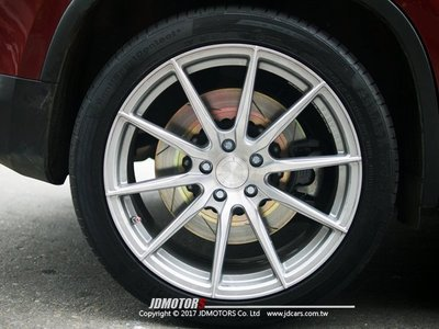 JD-MOTORS 捷都車業 HHC BRAKE 350mm雙片式後加大碟組- VW TIGUAN