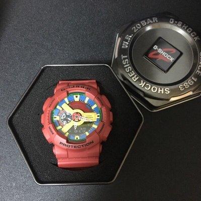 二手錶】 現貨 CASIO G-SHOCK 卡西歐 紅色 紅樂高 原廠 GA-110FC-1A(非AES.REMIX)