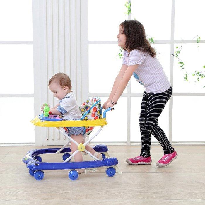 寶寶嬰兒童學步車6/7-18個月u型多功能防側翻手推車可折疊帶音樂YS