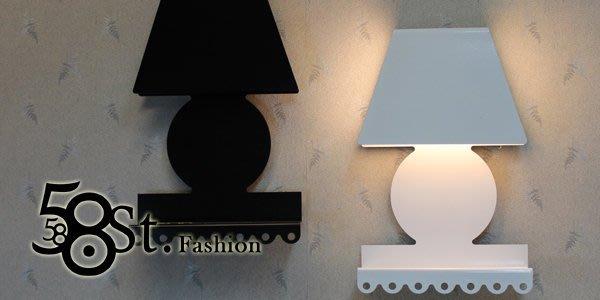 【58街】義大利設計師款式「花邊置物台壁燈」。複刻版。GK-303
