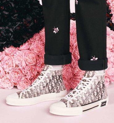 DIOR B23 DIOR OBLIQUE 科技布料高筒運動鞋 男女鞋