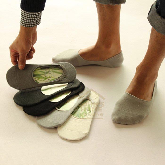 純色男士竹纖維隱形襪 男襪 豆豆鞋船型鞋福樂鞋淺口素色船襪 矽膠防掉跟設計 3色可選【VA010】《約翰家庭百貨