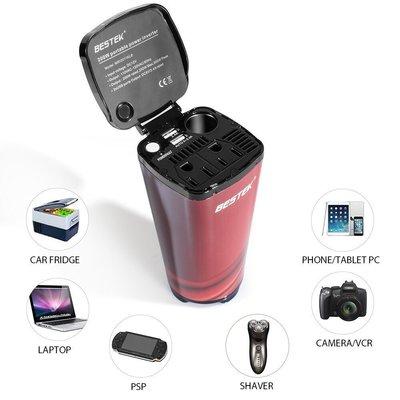 銷售第一※台北快貨※美國原裝 BESTEK 200W 杯架用110V 3合1電源供應變壓器
