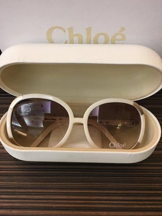 喬瑟芬【CHLOE-MYRTE】象牙白色醋酸纖維+精緻金屬太陽眼鏡~夏季出清特價$11000